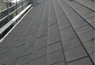 屋根カバー工法で補修したアスファルトシングル