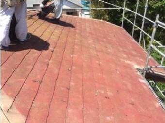 既存後現れたスレート屋根