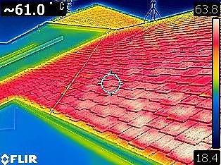 屋根温度写真