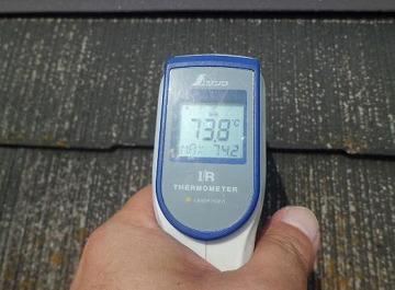 屋根の温度