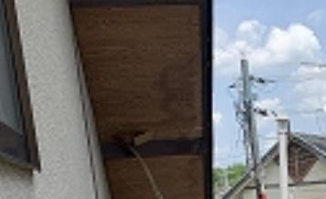 奈良市で軒天井リフォームと破風板の補修を行いました
