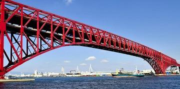 阪神高速港大橋トラス構造