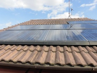 太陽光が乗っている屋根