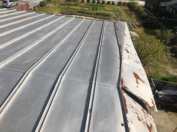 金属屋根 施工前