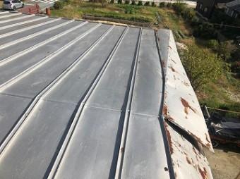 屋根劣化部分