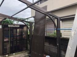 施工前 波板屋根