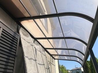 築17年のテラス屋根