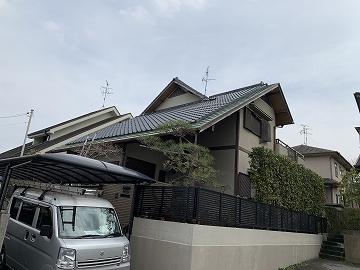 奈良市で瓦屋根、板金一文字、外壁塗装工事を着工します。
