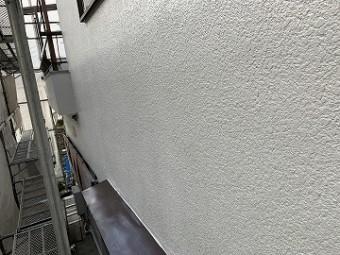 上塗り後の外壁