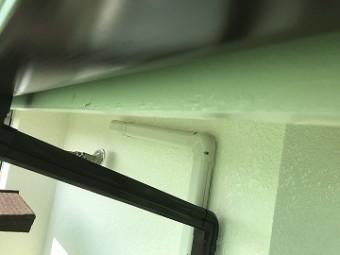 鼻隠し板 横雨樋塗装