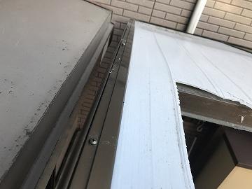 テラス屋根の上