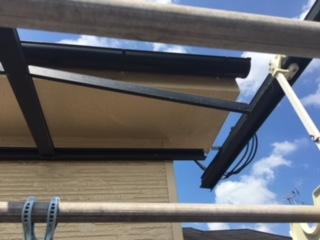 テラス屋根損傷