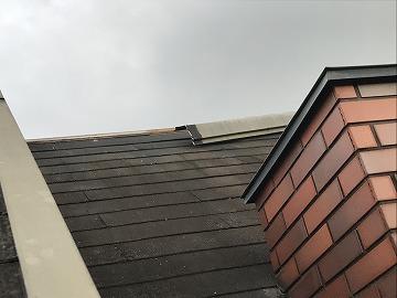 被害にあった屋根