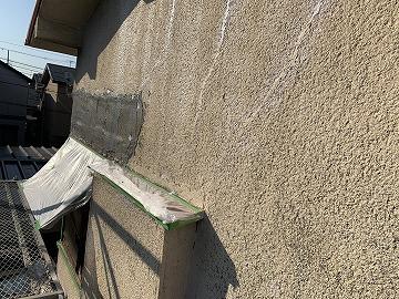庇撤去 クラック外壁