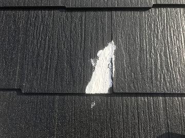 屋根のひび割れ部コーキング