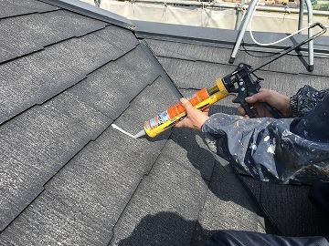 瓦の割れ補修