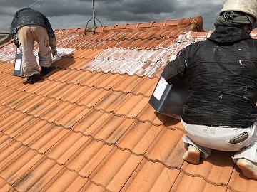 屋根材下塗り塗装