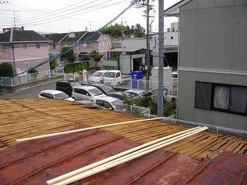 屋根材 撤去
