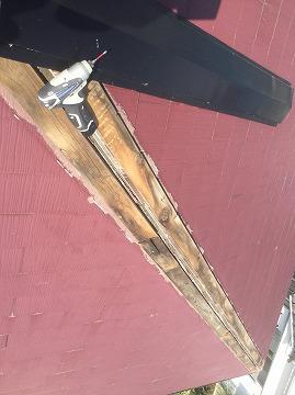 むき出しの下地木材