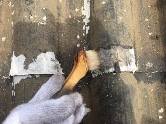 下地調整二液性シーラー塗布