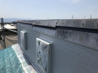 片流れ屋根 棟板金