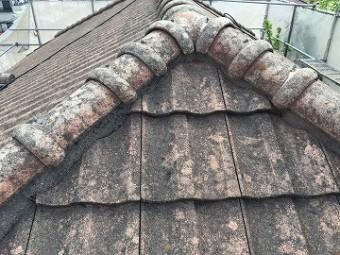屋根排気ガス汚れ