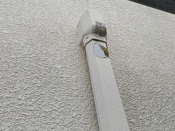 配管の塗装剥がれ