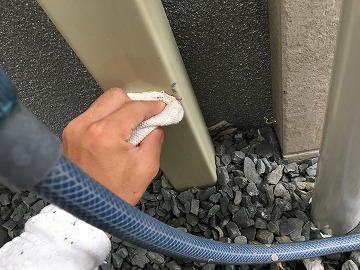 水道塗料汚れ拭き