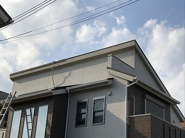 葛城市で風で飛んだ屋根の板金を交換しました。