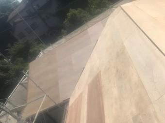 屋根下地合板 増し張り