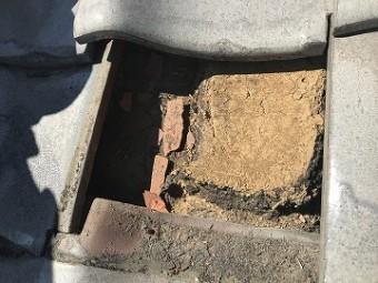 瓦の中の土の状態