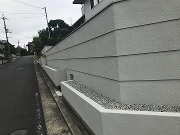 塀の仕上がり