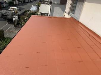 全面にメロウオレンジの塗装