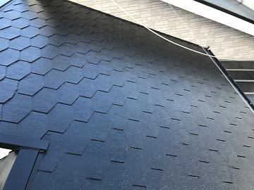 上塗り後の屋根
