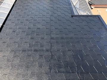 中塗り後の屋根