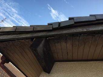 屋根の沈み