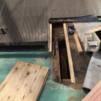 屋根下地構築