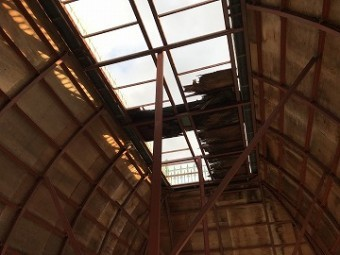 被災した屋根部分