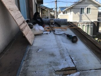 屋根捲り後の下地
