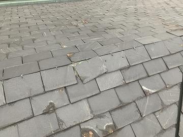天然石の屋根材