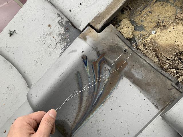 屋根下地から線