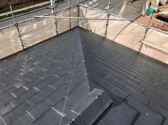 中塗り塗装後 屋根