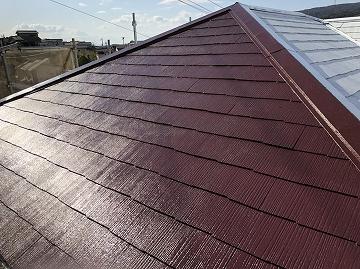 中塗り塗装後 屋根面