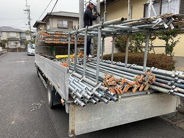 大和高田市で屋根工事も安心の足場組立