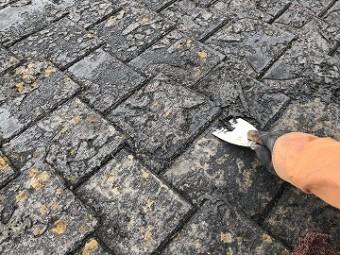 屋根塗装捲れ