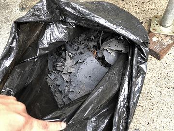 捲れたゴミの量