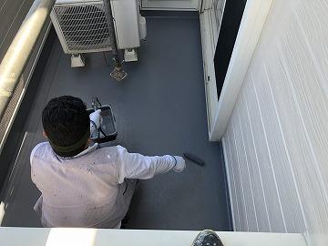 防水層保護塗料塗布