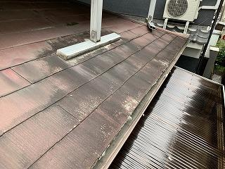 下屋根アスベスト含有