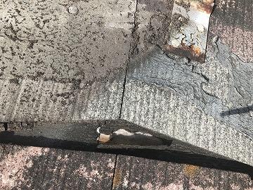 ルーフィングの損傷