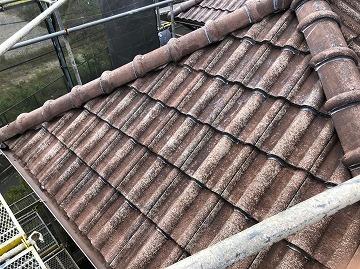 大和高田市にてモニエル瓦 屋根塗装工事